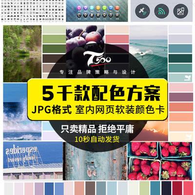 【淘宝数据包】配色方案色彩搭配大全室内网页软装颜色卡色彩搭配色板素材