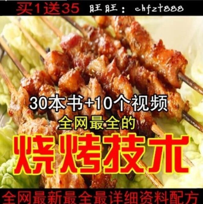 猪肉串 羊肉串 烧烤配方 肉串腌制秘方 室内外烧烤技术小吃配方