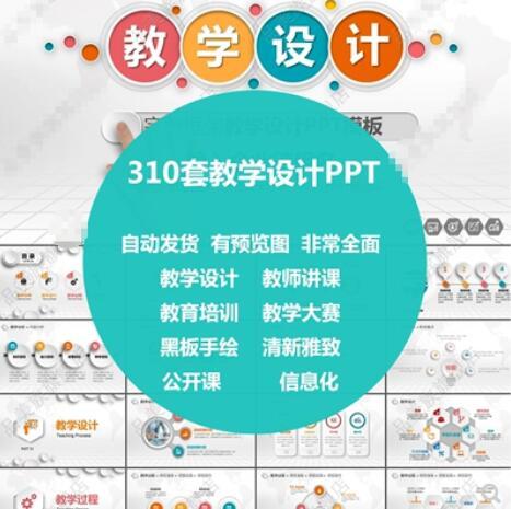 教学设计PPT模板素材 教师课件培训说课公开课班会高校信息化黑板